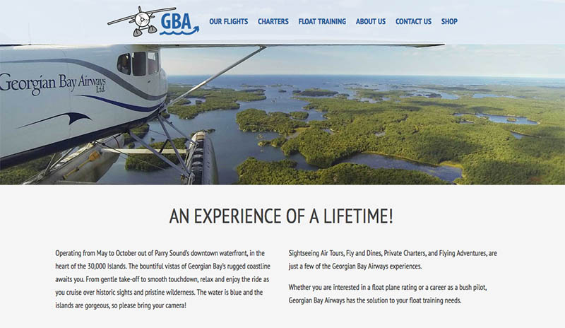 Georgian Bay Airways Airline Honey Harbour Georgian Bay Island Cottage Properties for Sale